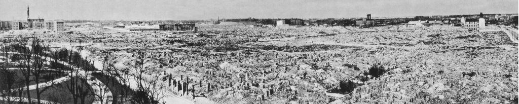 Das zerstörte Warschauer Ghetto